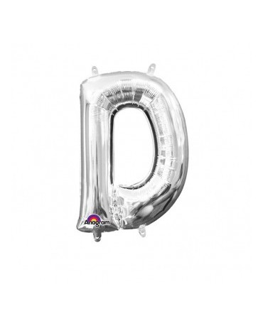 Fóliový balón - strieborné D 22x33cm