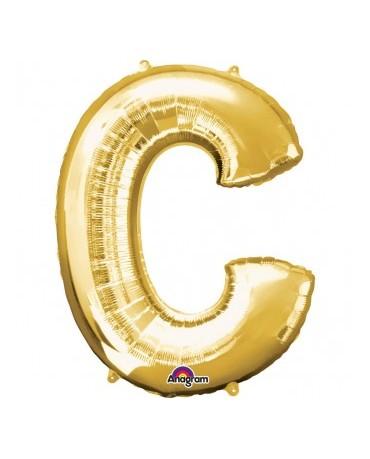 Fól. balón - zlaté C   22x33cm 1ks