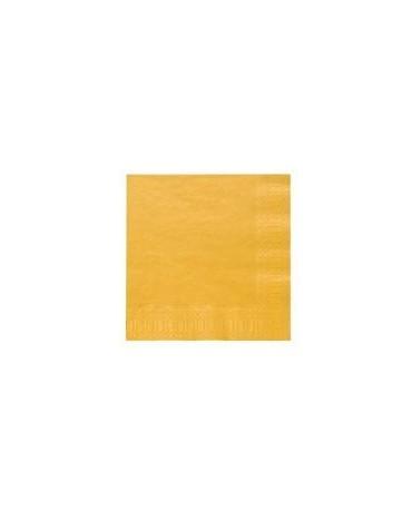 Servítky žlté - 3 vrstvové 33cm 20ks