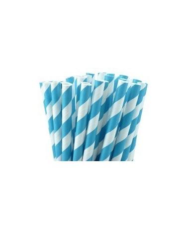 Slamky - bielo- modré 8ks