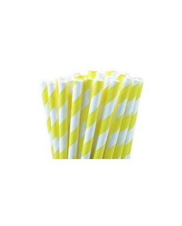 Slamky - bielo- žlté 8ks