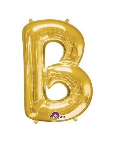 Fól. balón - zlaté B   22x33cm 1ks