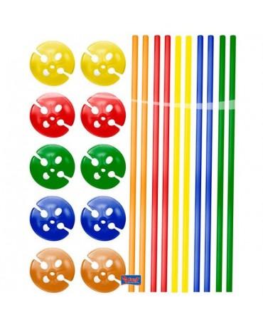 Slamky farebné 40cm 10ks