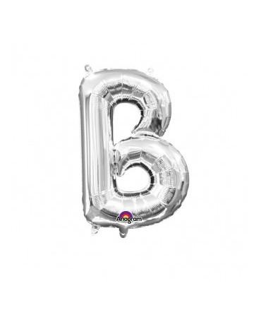 Fól. balón - strieborné B   22x33cm 1ks