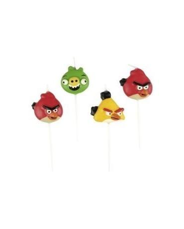 Sviečky Angry Birds - 4 ks.