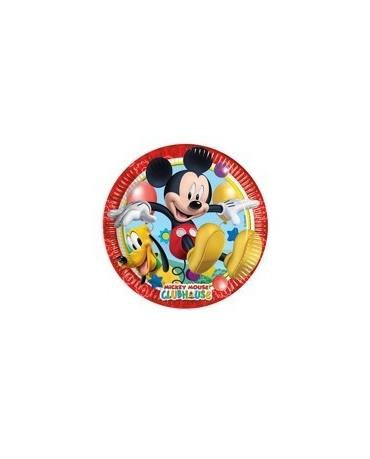 Tanieriky Mickey Mouse 23 cm 8 ks