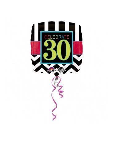 Fóliový balón Celebrate 30  43cm