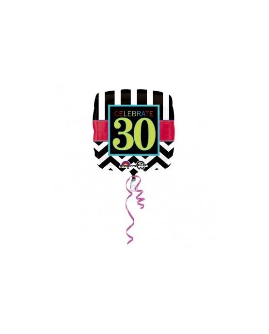 Fól. balón Celebrate 30     43cm 1ks