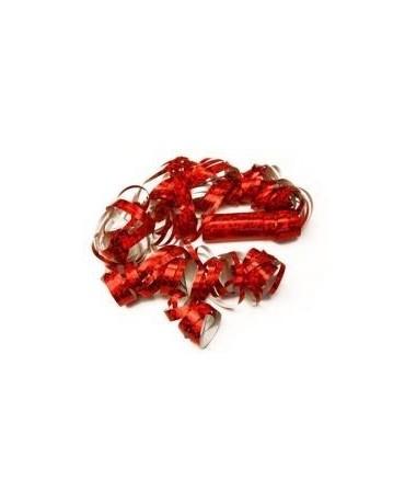 Serpentíny - ligotavé červené 4 m