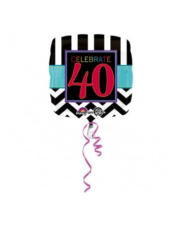Fóliový balón Celebrate 40  43cm