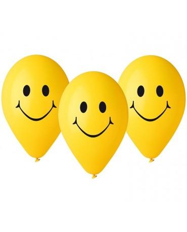 Latexové balóny smajlík 12'' 5ks