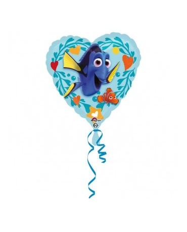 Fóliový balón srdce - Dory 43cm