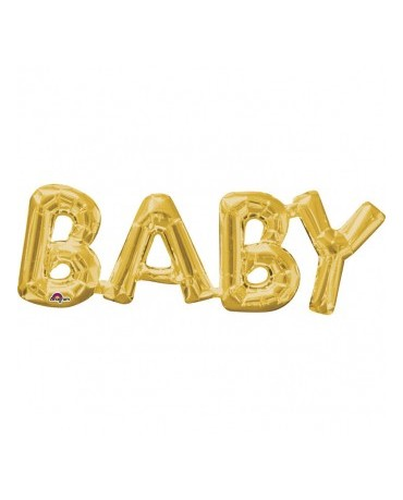 Fóliový balón BABY zlatý 66x22cm