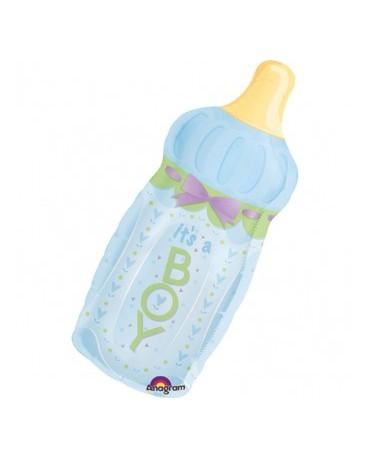 Fóliový balón dojčenská fľaša - modrá 79x33cm