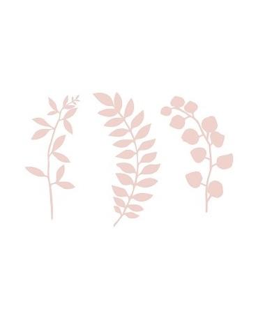 Dekorácie na stôl -vetvičky s lístkami - ružové  9ks