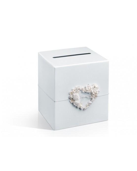 Box na telegramy-krémové srdce 1ks