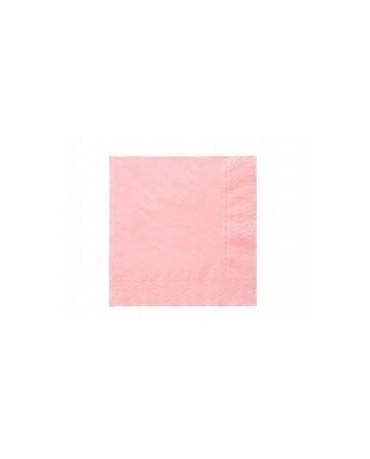 Servítky bledoružové- 3 vrstvové 33cm 20ks