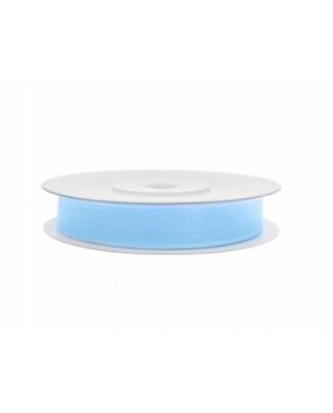 Šifónová stuha - modrá 6mm 25m 1ks