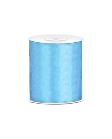 Saténová stuha -modrá 100mm 25m 1ks