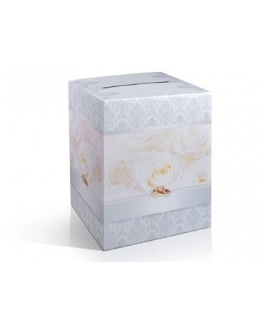 Box na telegramy- krémové ruže 1ks