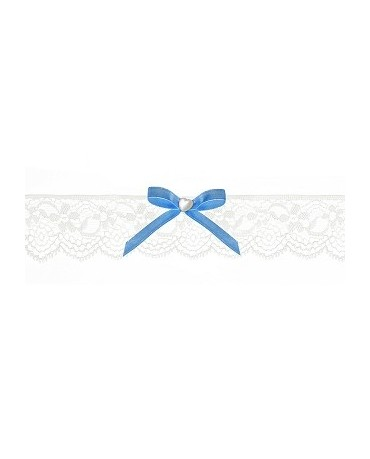 Podväzok pre nevestu -čipkovaný -biely s mašľou 1ks