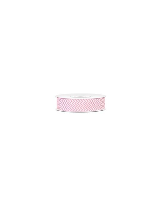 Dekor. stuha -vlnky-ružová 18mm 10m 1ks