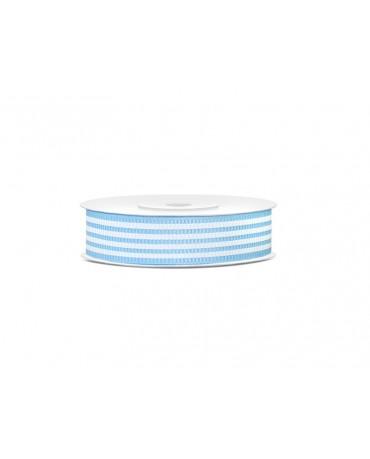 Dekor. stuha -pásiky-modrá 18mm 10m 1ks