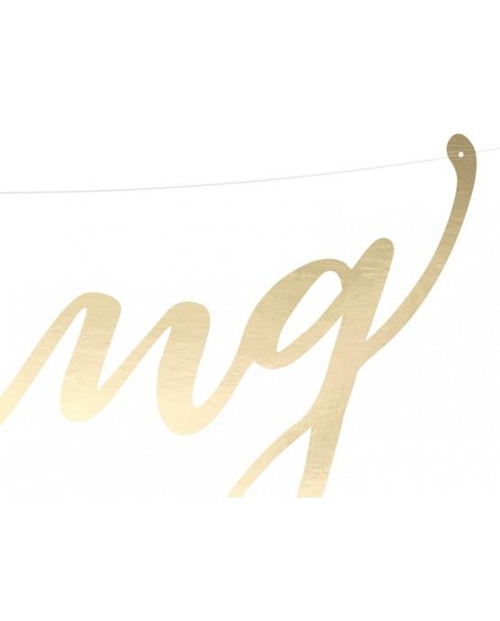 Banner Wedding 16,5x45cm 1ks