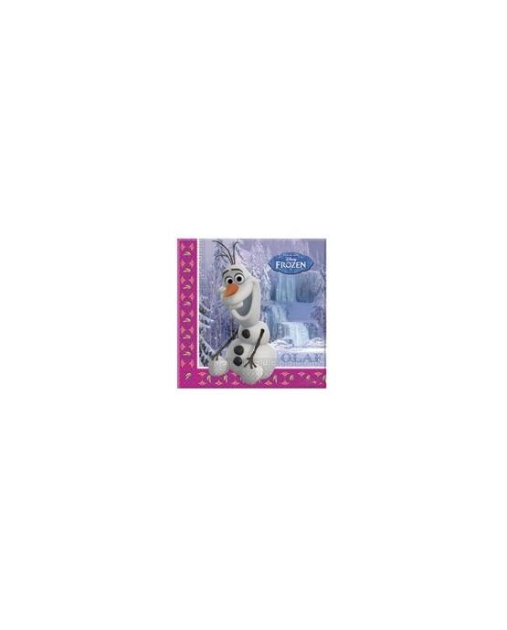 Servítky s motívom Olaf- Frozen Ľadové kráľovstvo 33cm 20ks/P130