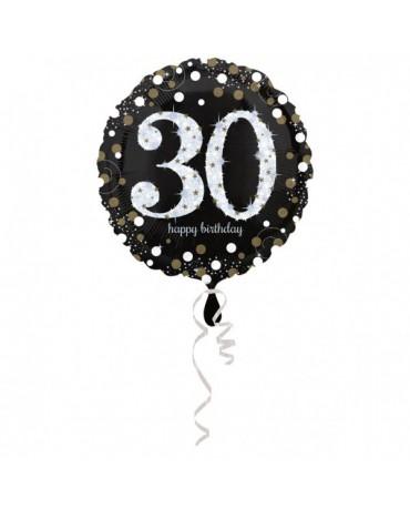 Fóliový balón číslo 30-zlatý 43cm
