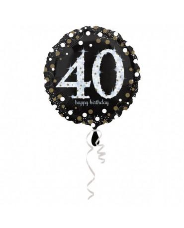 Fóliový balón číslo 40- zlatý 43cm