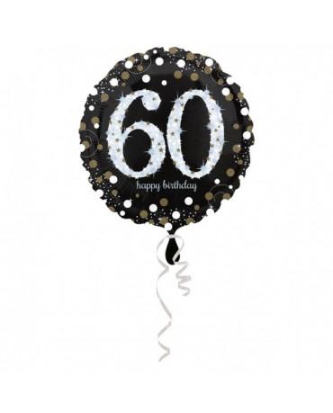 Fóliový balón číslo 60- zlatý 43cm