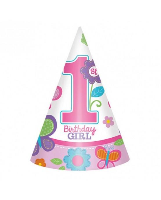 Klobúčik Birthday Girl č.1  8ks