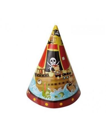 Klobúčiky Pirátska loď 6ks