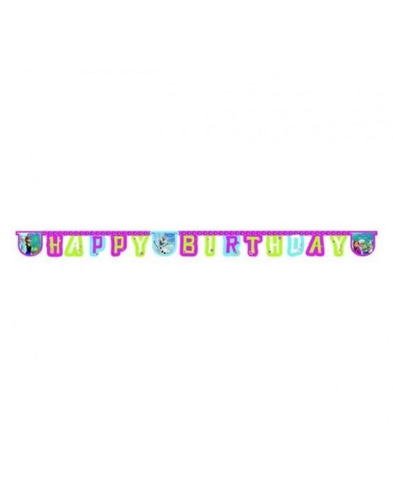 Banner Frozen - Happy Birthday 1ks