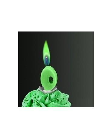 Sviečka - číslo 0 -zelený plameň