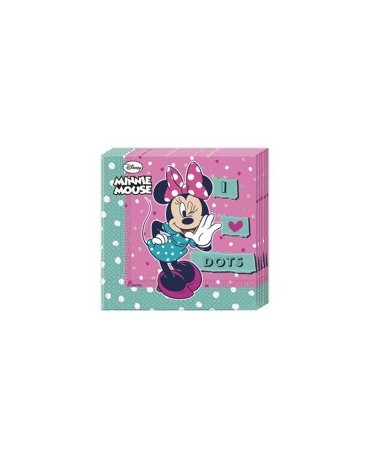 Servítky Minnie mouse - bodky 33cm 20ks