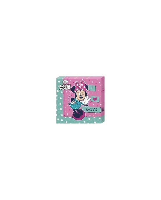 Servítky Minnie mouse - bodky 33cm 20ks/P173