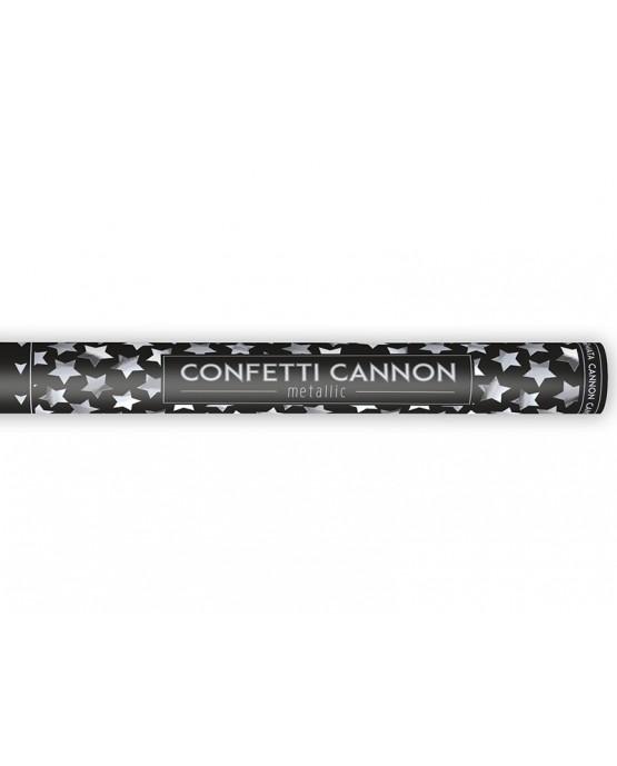 Konfety - strieborné hviezdy 60cm