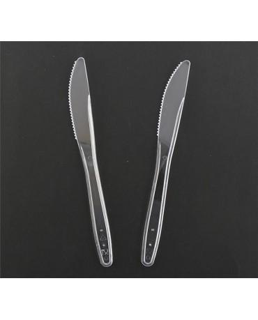 Plastové nožíky - priehľad. 6ks