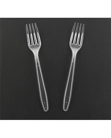 Priehľadné plastové vidličky 6ks