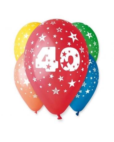 Latexové balóny číslo 40- hviezdy 30cm 10ks