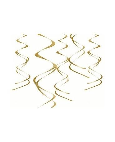 Špirály -zlaté 60 cm - 5ks