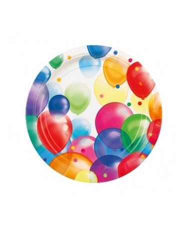 Tanieriky Balóniky  23cm 8ks