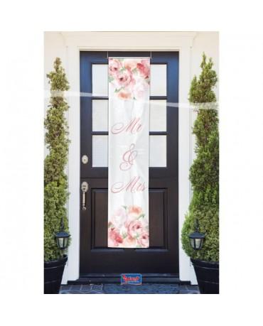 Baner na dvere Mr & Mrs 40x180cm