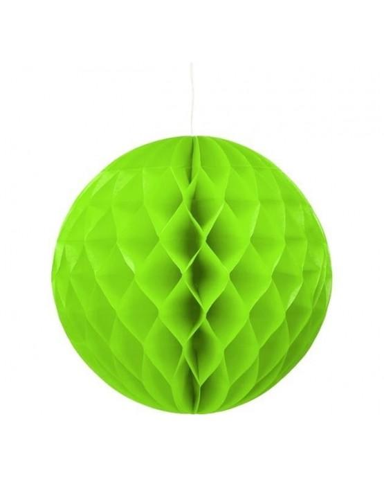 Papierová dekorácia - guľa zelená 30cm 1ks/P177