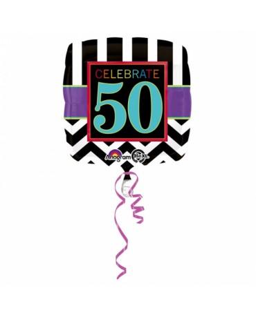 Fóliový balón Celebrate 50  43cm