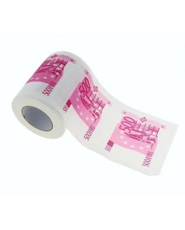 Toaletný  papier 500€ bankovky