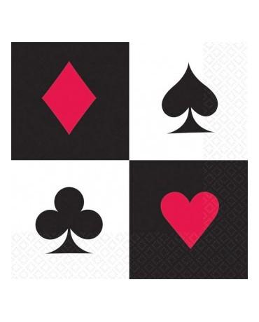 Servítky kartové  znaky -33 cm 16ks