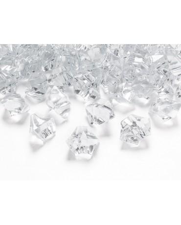 Dekorácia - bezfarebný ľad 2,5x2,1cm 50ks